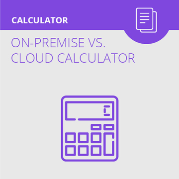 Cloud vs On-Premise Calculator