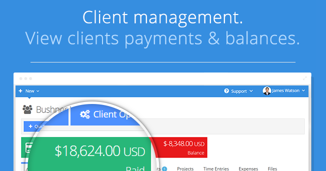 View clients payments & balances.